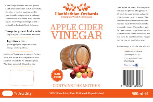 Cider Vinegar Bottle Label