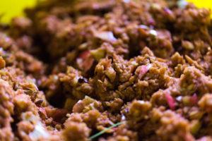 Closeup of apple pulp