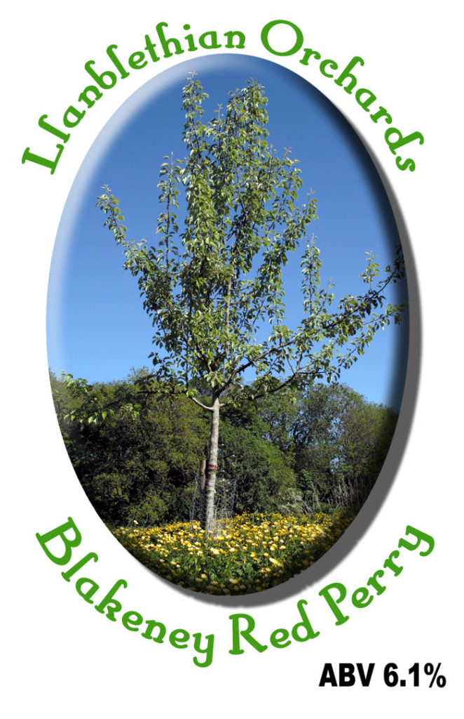 2011 Label for blakeney red perry. photo is of hellens early from llanblethian orchard south wales
