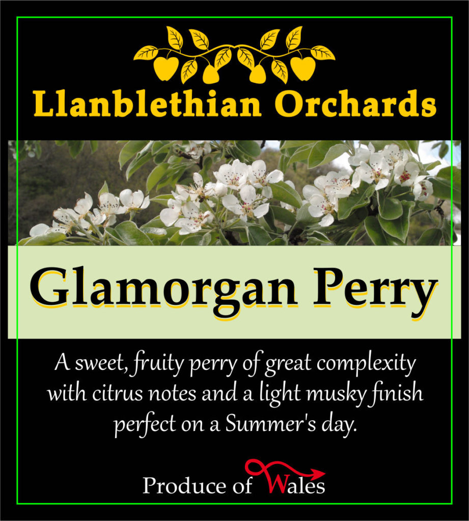 bottle label glamorgan perry branch logo is now in modern format llanblethian orchards cider