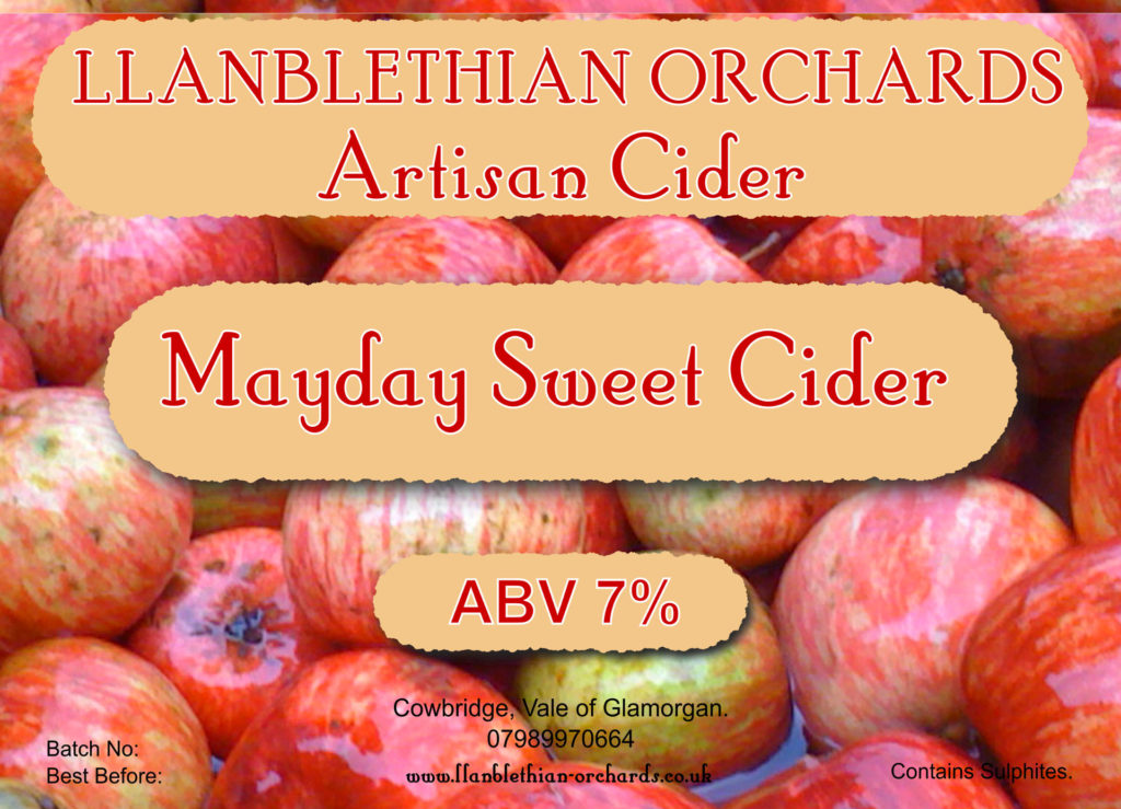 Early label design 2013 for ay day cider cowbridge