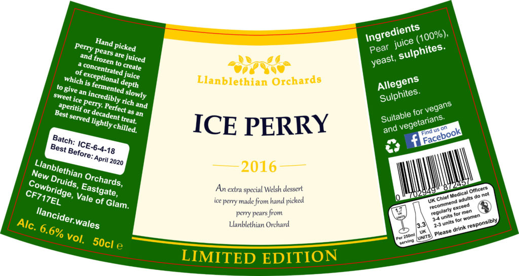 Llanblethian orchards ice perry label south wales