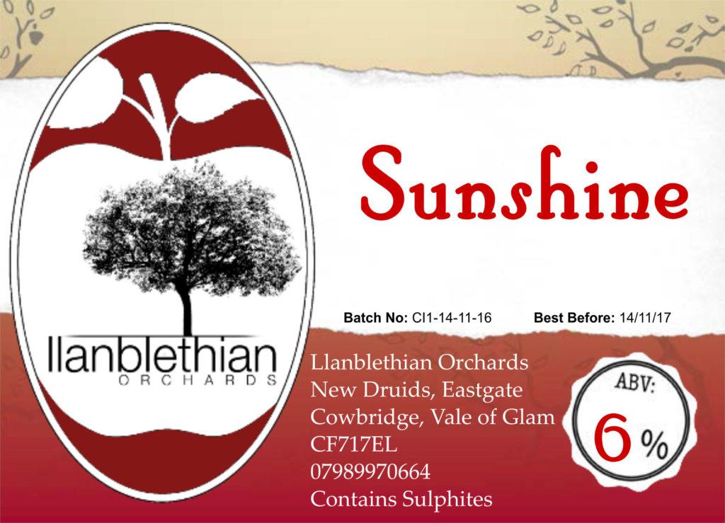 Creative rural communities funded label design for sunshine cider