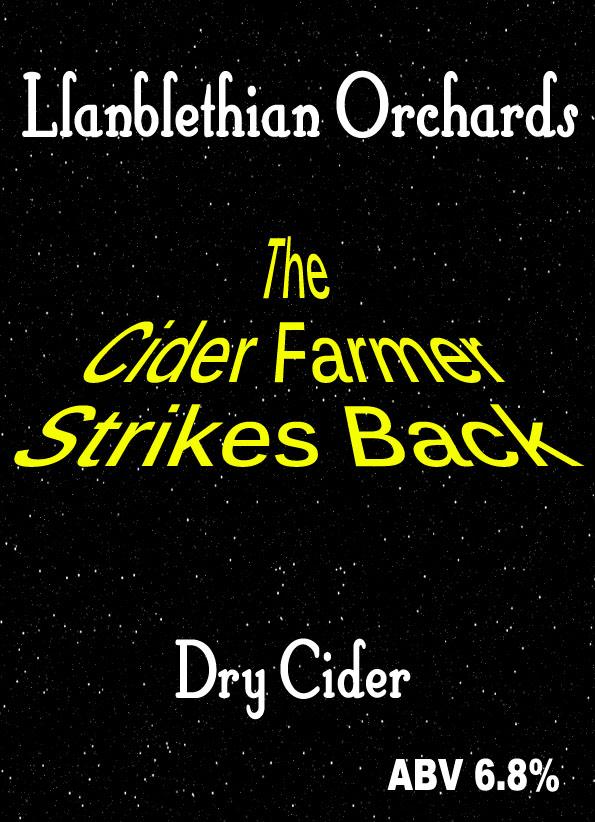 the cider farmer strikes back 2010 label south wales cider