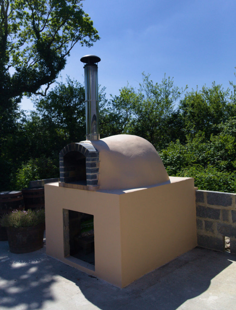 Wood-fired pizza oven painted and ready to go cowbridge vale fo glamorgan