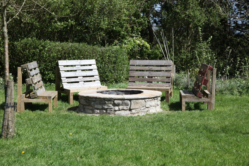 Finished fire pit at Llanblethian Orchards South Wales