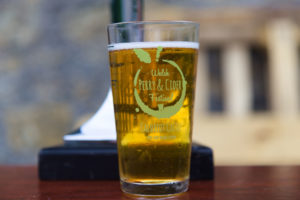 Craft cider glass llanblethian orchards cowbridge vale of glamorgan south wales