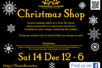 2019 Christmas Shop Poster Llanblethian Orchards
